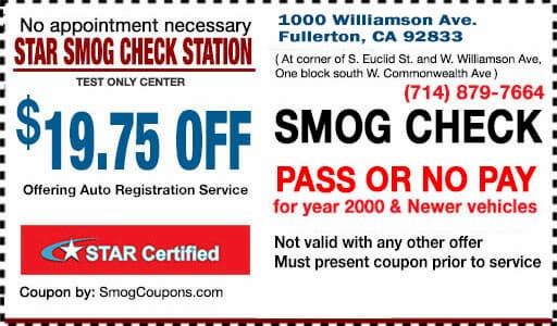 Discount Smog Coupon Near Me 19 75 Off Smog Coupon